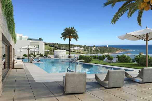 Penthouses in a new development next to the golf and the sea