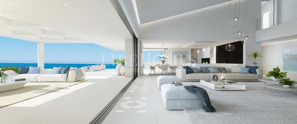 Luxury beachfront penthouse, new development in Estepona