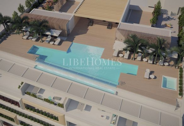 New apartment development right on Estepona promenade