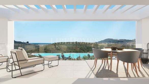 New apartment development with artificial lagoon in Casares