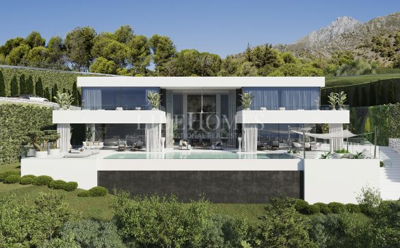 Luxury villa under construction, La Reserva de Alcuzcuz, Benahavis