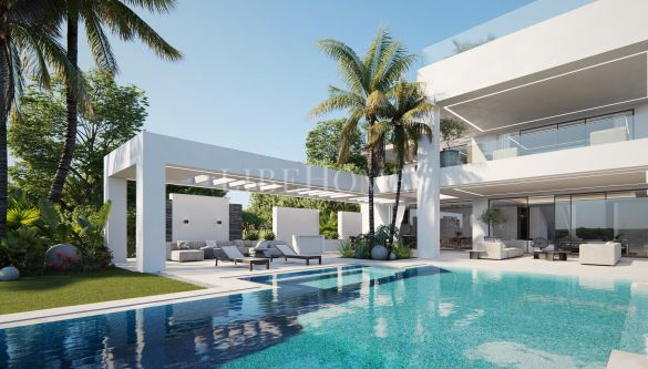 Luxury villa under construction in Los Flamingos Golf, Benahavis