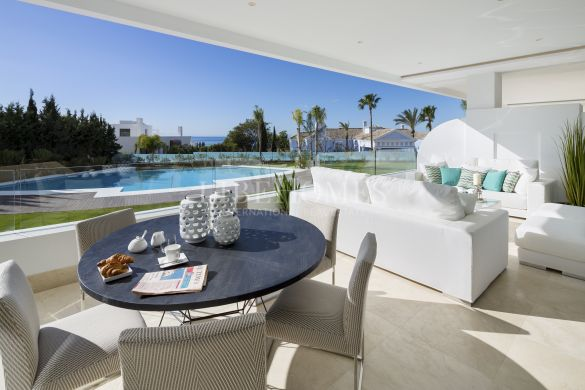 Ground floor apartments, luxury new development, Marbella Golden Mile