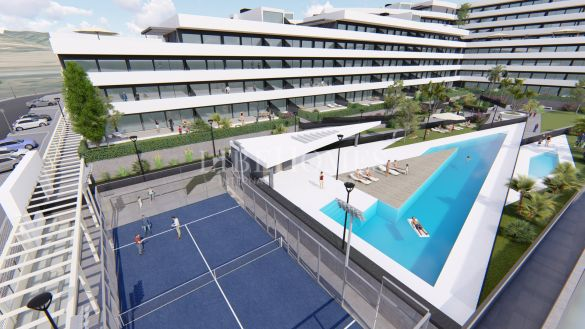 New development of modern apartments in Estepona town