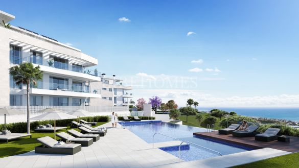 Newly built ground floor apartments in El Chaparral, Mijas