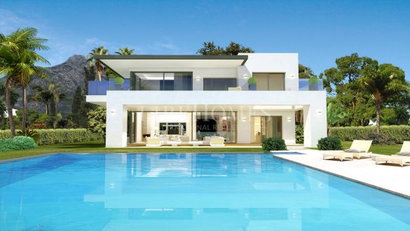 New development of 8 villas, key-ready, in Marbella Golden Mile
