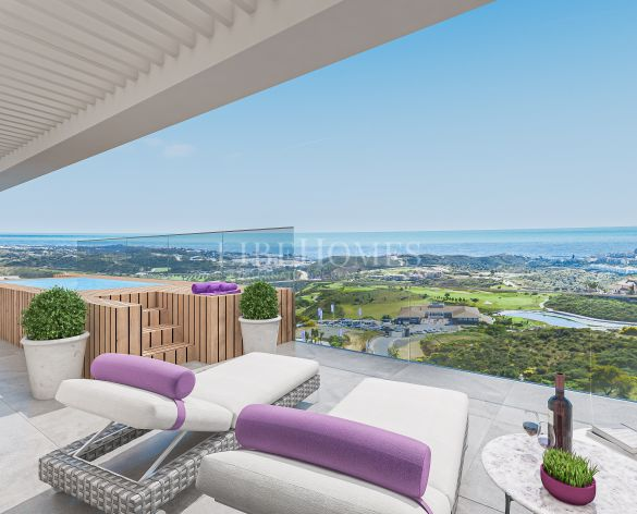Penthouses in a new development next to the golf in Calanova, Mijas