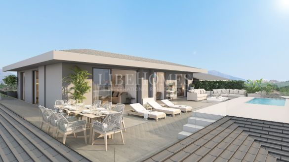 New penthouses close to El Chaparral Golf, Mijas Costa