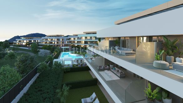 New apartment development with sea views in Cancelada, Estepona