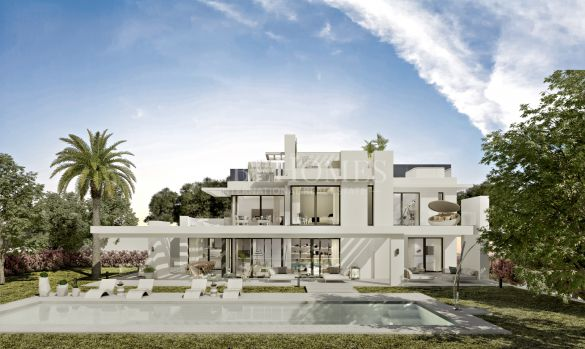 New modern-style villa in Los Flamingos Golf, Benahavis