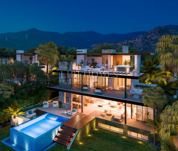 New villas with panoramic views in El Paraíso Alto, Benahavis