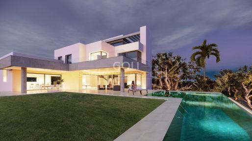 Contemporary villa with fantastic sea views