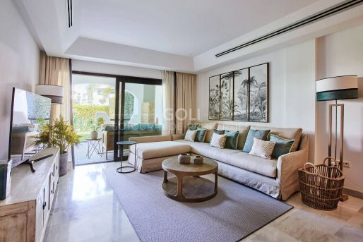 Well furnished ground floor apartment in Polo complex