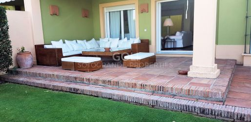 West facing townhouse with a garden in Upper Sotogrande