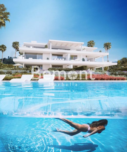 Modern luxury ground floor apartment for sale in Estepona, Marbella West.
