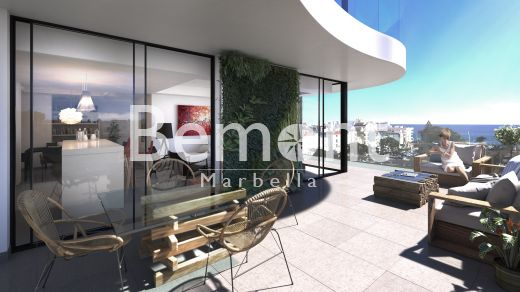 Beachside contemporary penthouse for sale in Estepona, Marbella West, Spain