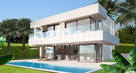 Brand new beachside villa with sea views for sale in Estepona, Costa del Sol, Spain