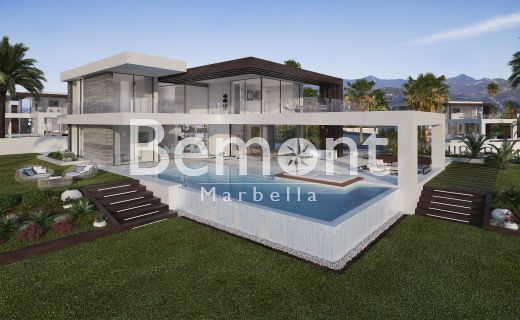Contemporary 4 bedroom off plan villa with sea views for sale in Marbella West