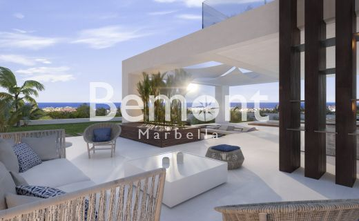 Exclusive off plan villa with panoramic sea views for sale in Marbella West