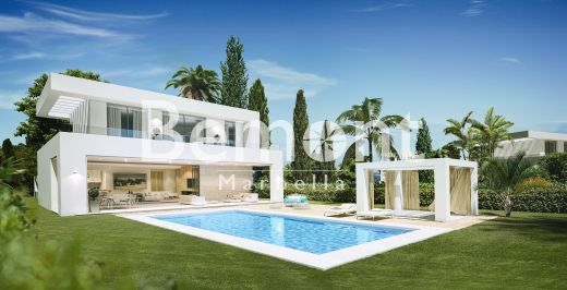 Modern off-plan villa with panoramic sea views for sale in La Cala Golf, Marbella East