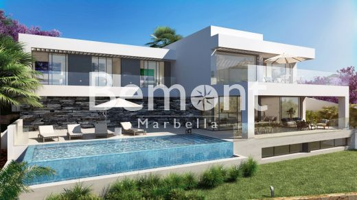 Luxury golf off-plan villa with sea views for sale in Marbella West