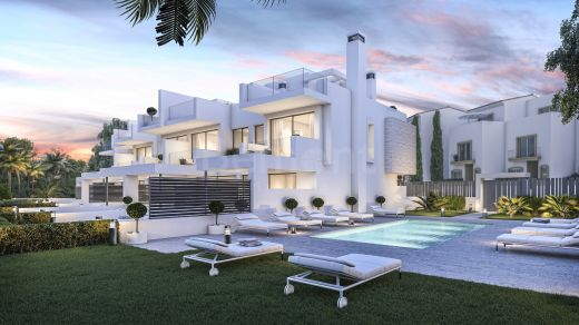 Beach side modern townhouse for sale in Estepona, Marbella west