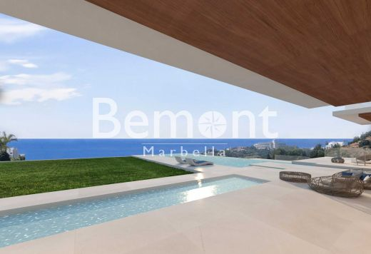 Luxury modern villa with panoramic sea views for sale in La Alqueria, Marbella West