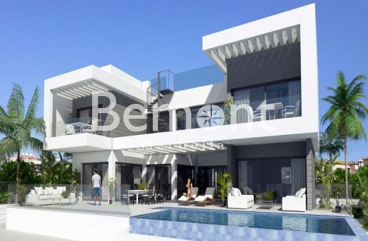 Frontline beach off plan villa for sale in La Cala de Mijas, Marbella East