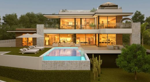 Beachside contemporary villa with sea views in Marbesa, Marbella East