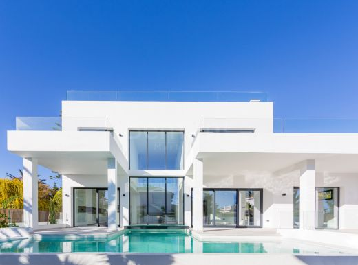 Contemporary beach side villa with sea views in Marbesa, Marbella East