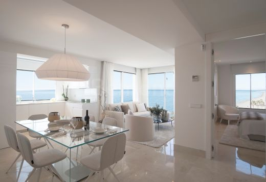 Modern front line beach apartment for sale Estepona, Marbella West