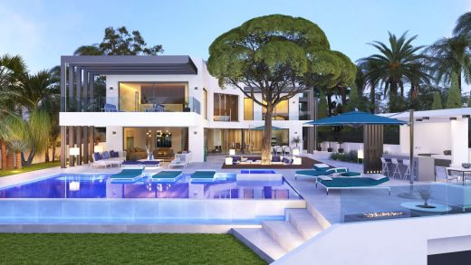 New build 5-bedroom beach side villa with sea views in Marbesa, Marbella East