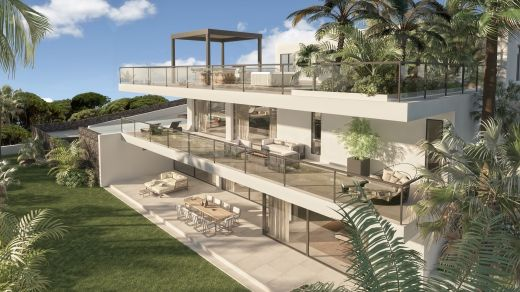 Contemporary new build villa with sea views for sale in Cabopino golf, Marbella East