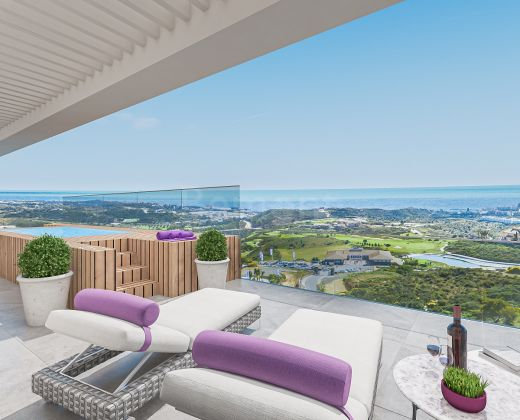 Modern golf penthouse for sale in Cala de Mijas, Marbella East