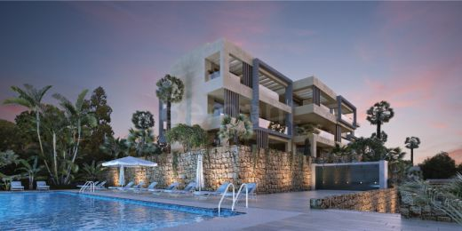 Front line golf apartments for sale in a gated complex in La Cala Golf
