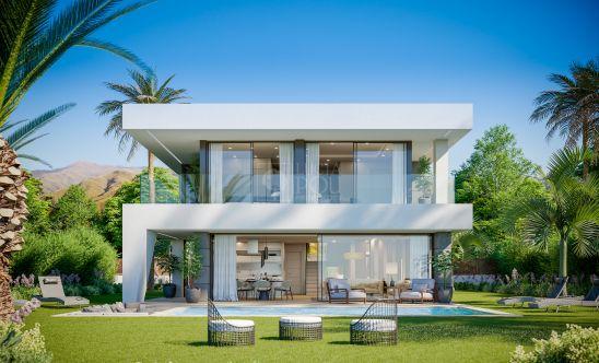 Aquamarina, villas de diseño moderno con maravillosas vistas panorámicas al mar en Manilva