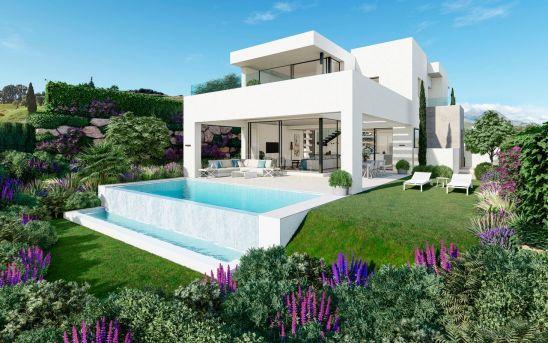 Selecto y exclusivo conjunto de 1O villas modernas y de lujo con vistas frontales al golf y al Mar.