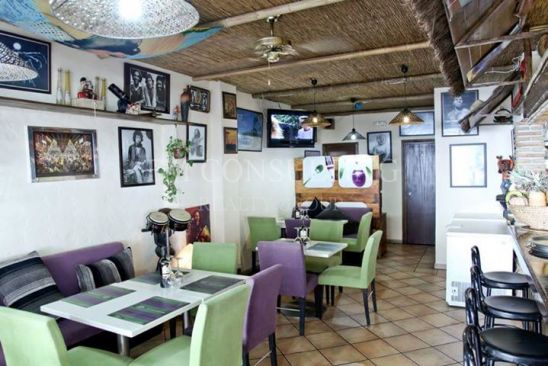 Bar in the port of Marbella