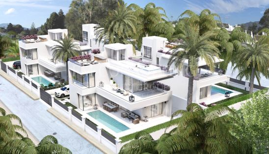 Project of 4 modern villas in Puerto Banús