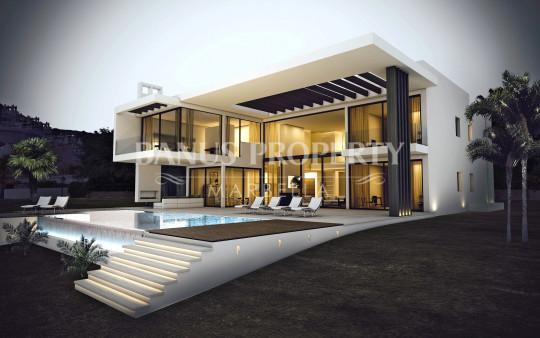Marbella - Puerto Banus, Brand new contemporary-style 6 bedroom villa for sale overlooking La Quinta golf course