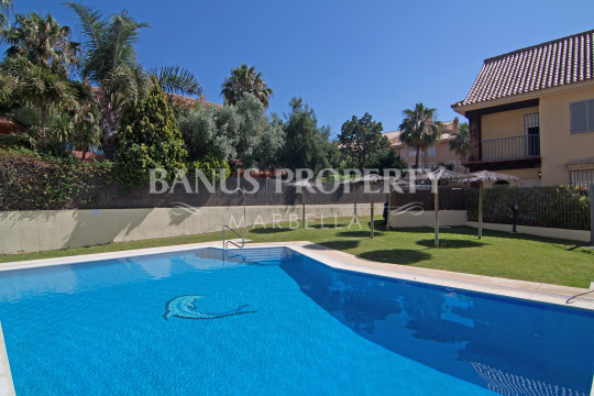 Marbella - Puerto Banus, 3 bedroom townhouse for rent within easy walking distance of the beach and Puerto Banus