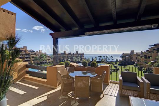 Estepona, 3 bed beach apartment with stunning sea views for sale in Los Granados del Mar, Estepona