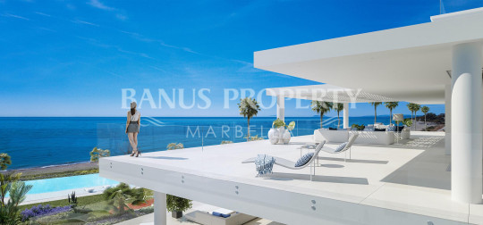 Marbella - Puerto Banus, Brand new four-bedroom frontline beach penthouse apartment for sale in the New Golden Mile