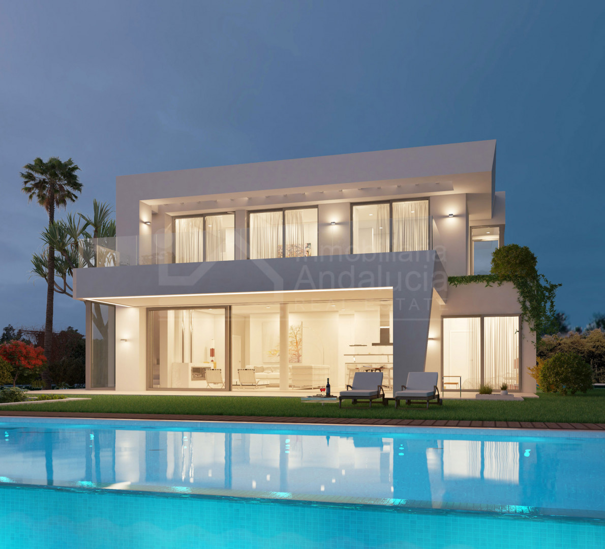 713m2 golf villa plot for sale with permission to build in Casares