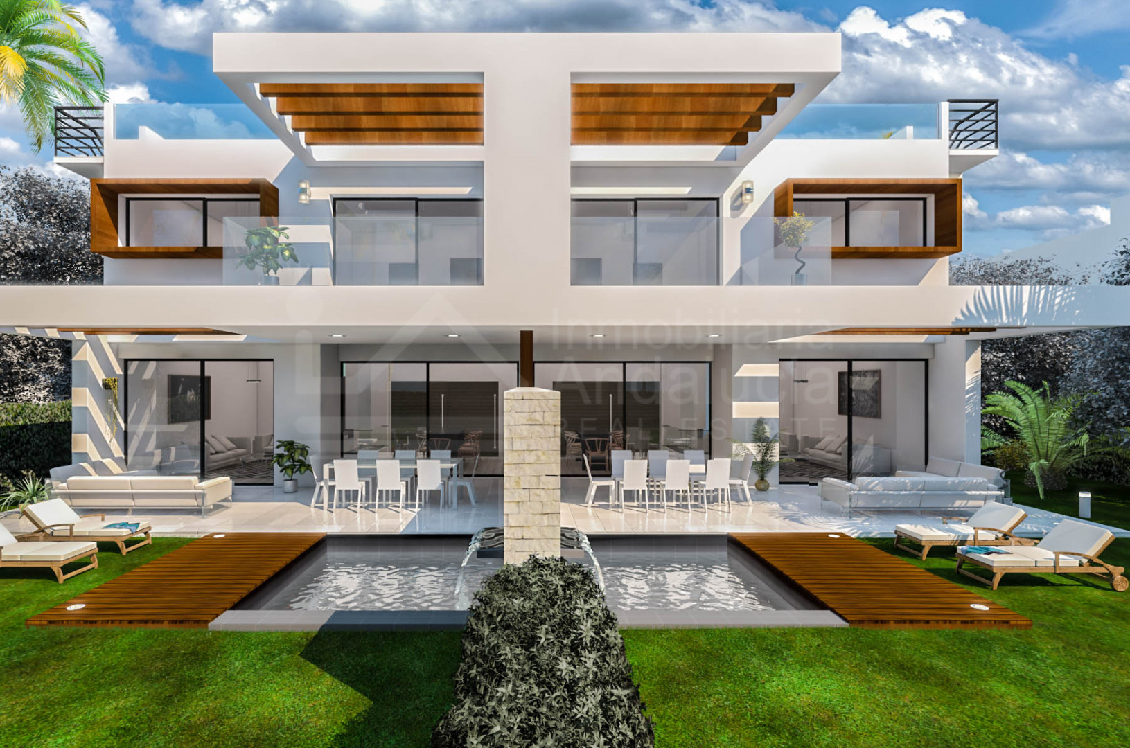 New contemporary style 3-bedroom luxury villa for sale in Estepona