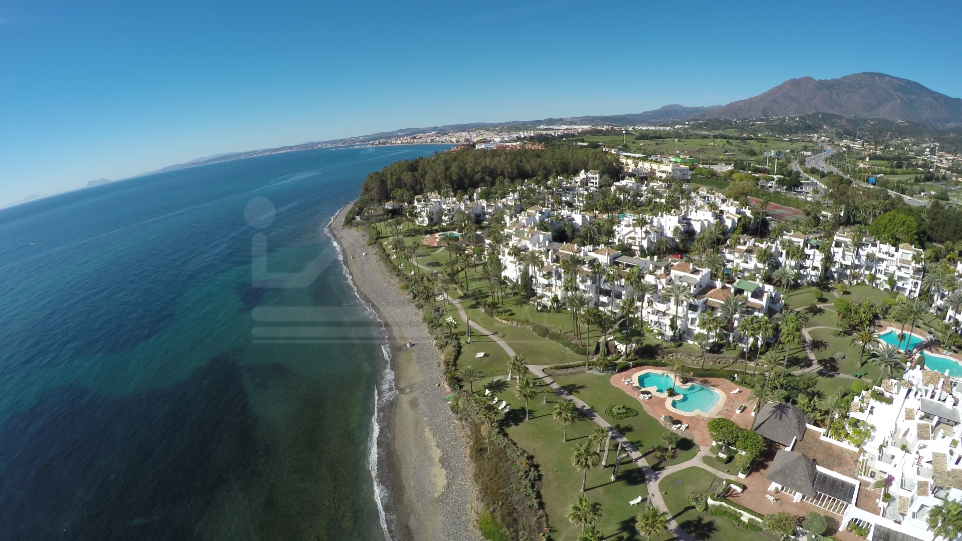 Modern two-bedroom first floor apartment within walking distance of the beach for sale in Alcazaba Beach, Estepona