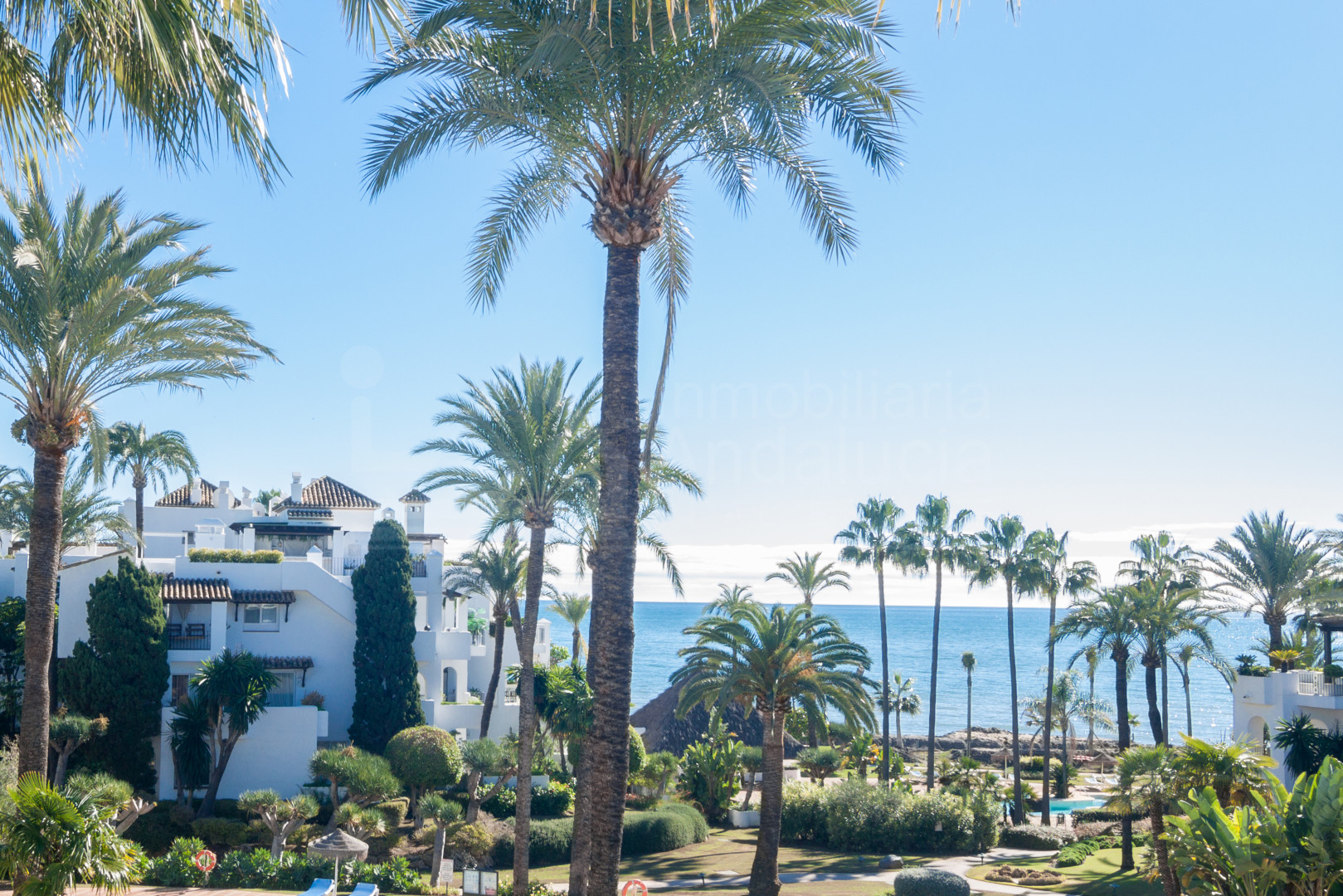 Two bedroom penthouse apartment with open sea views for sale in Alcazaba Beach, Estepona