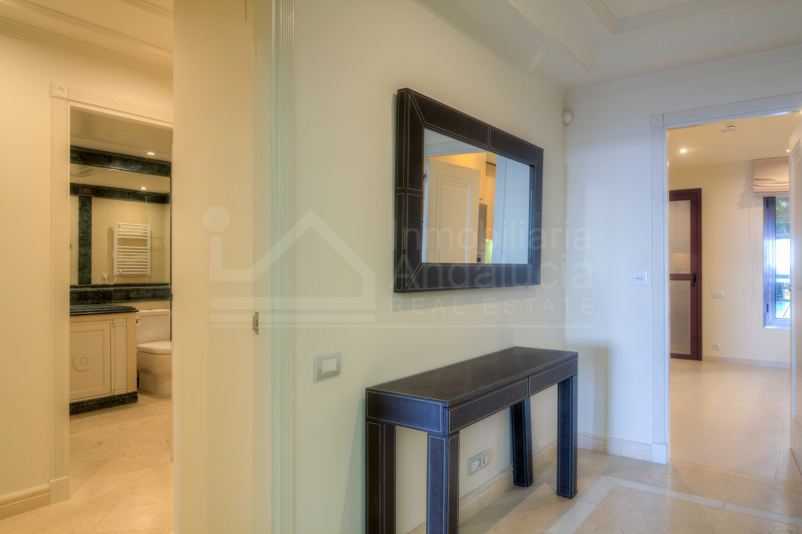 Modern two-bedroom first floor apartment, south-facing with gorgeous sea views for sale in Los Granados del Mar, Estepona