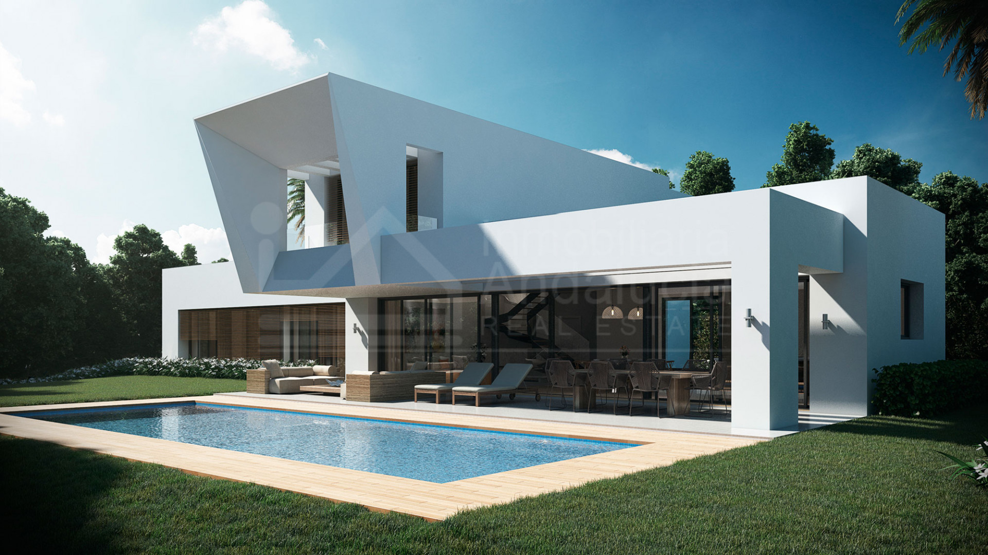 Brand new stylish contemporary 4-bedroom villa near the golf courses of El Paraíso, Estepona