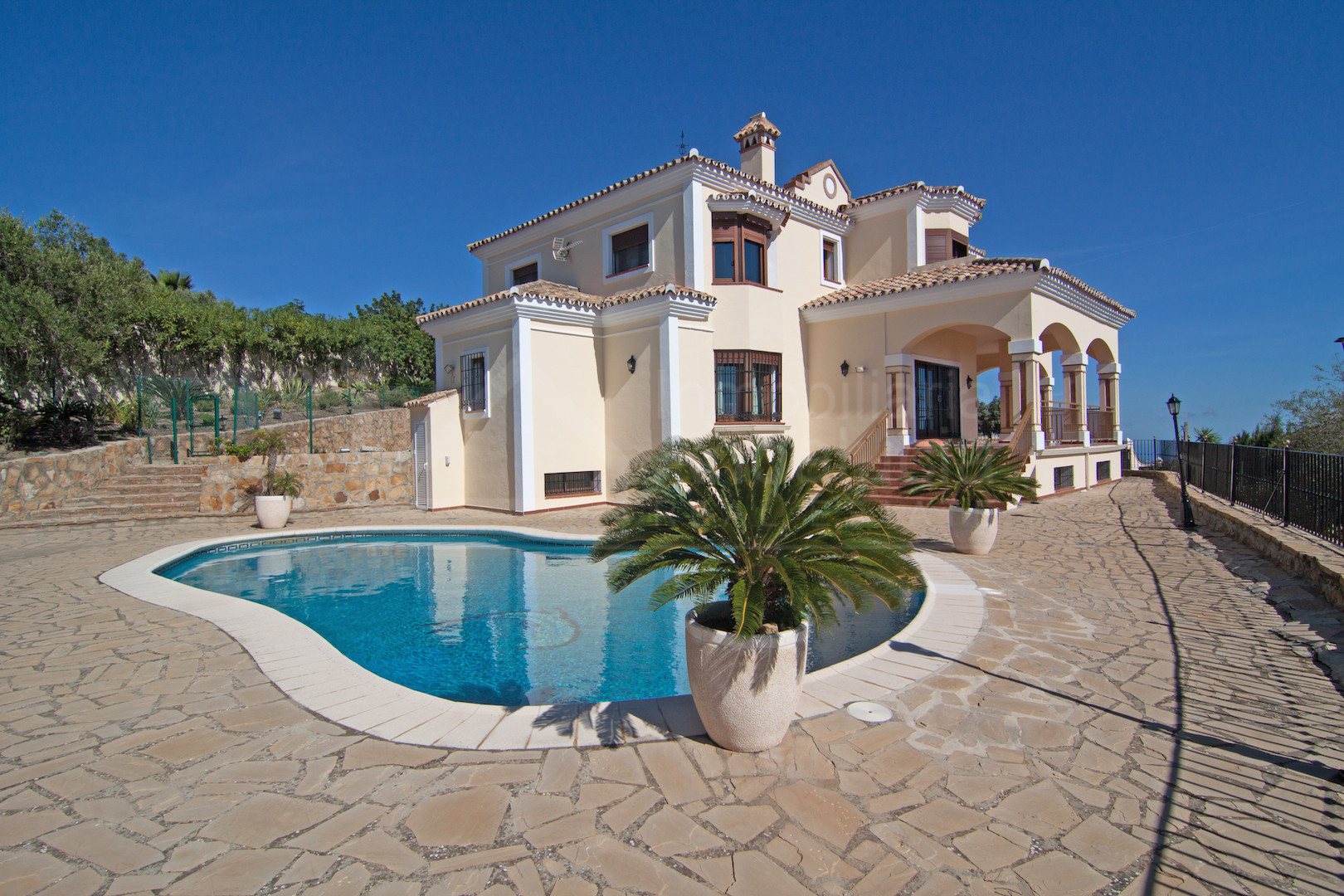 Luxury country villa with impressive elevated views for sale in Casares